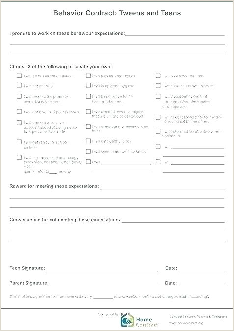 employee behavior contract template