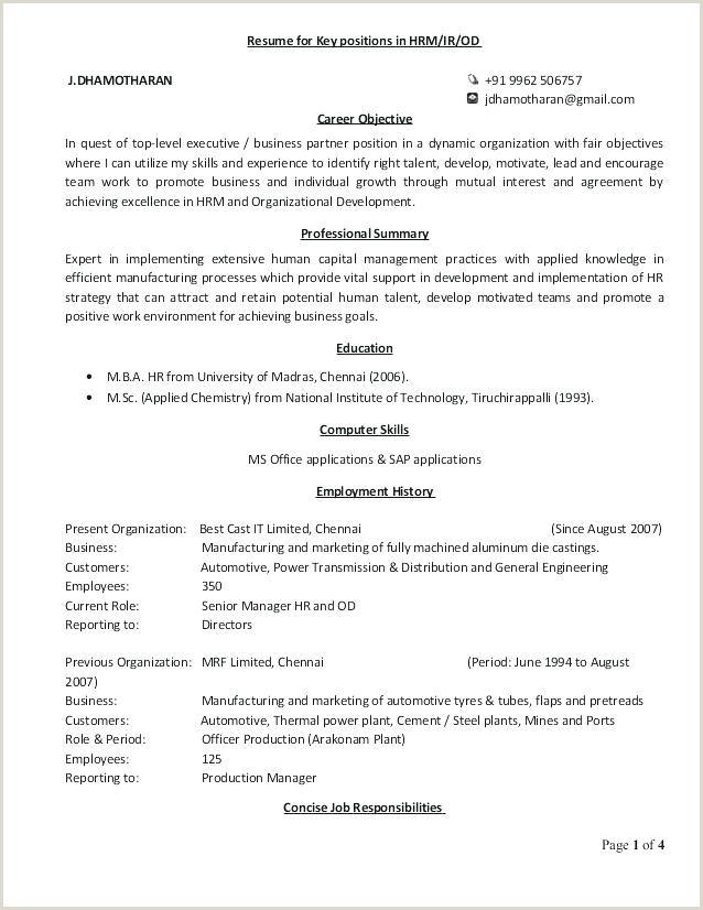 Cv format for Job Application Inspirierend Marine Chief