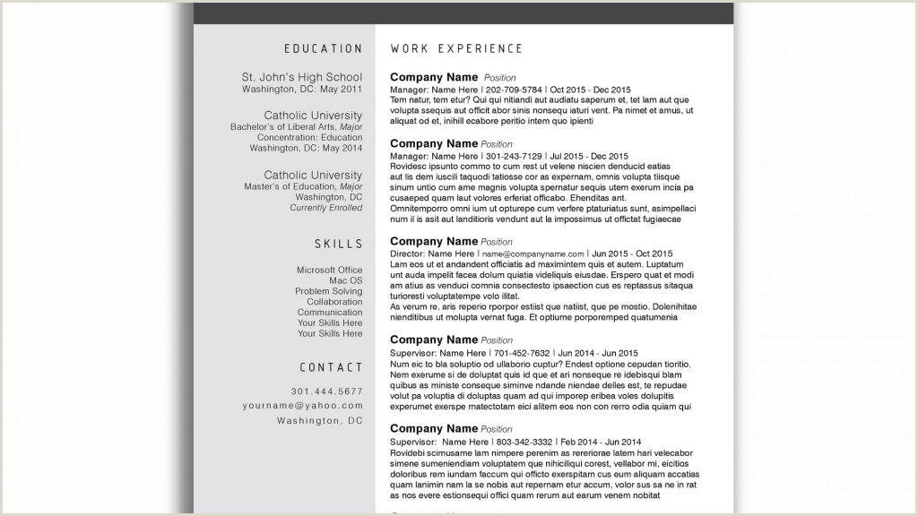 Business Resume Template Word New Templates Free Download