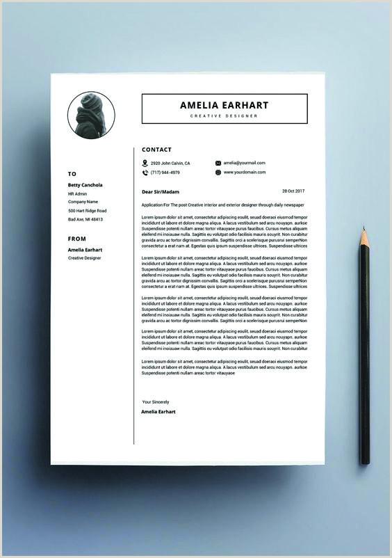 Resume design template modern