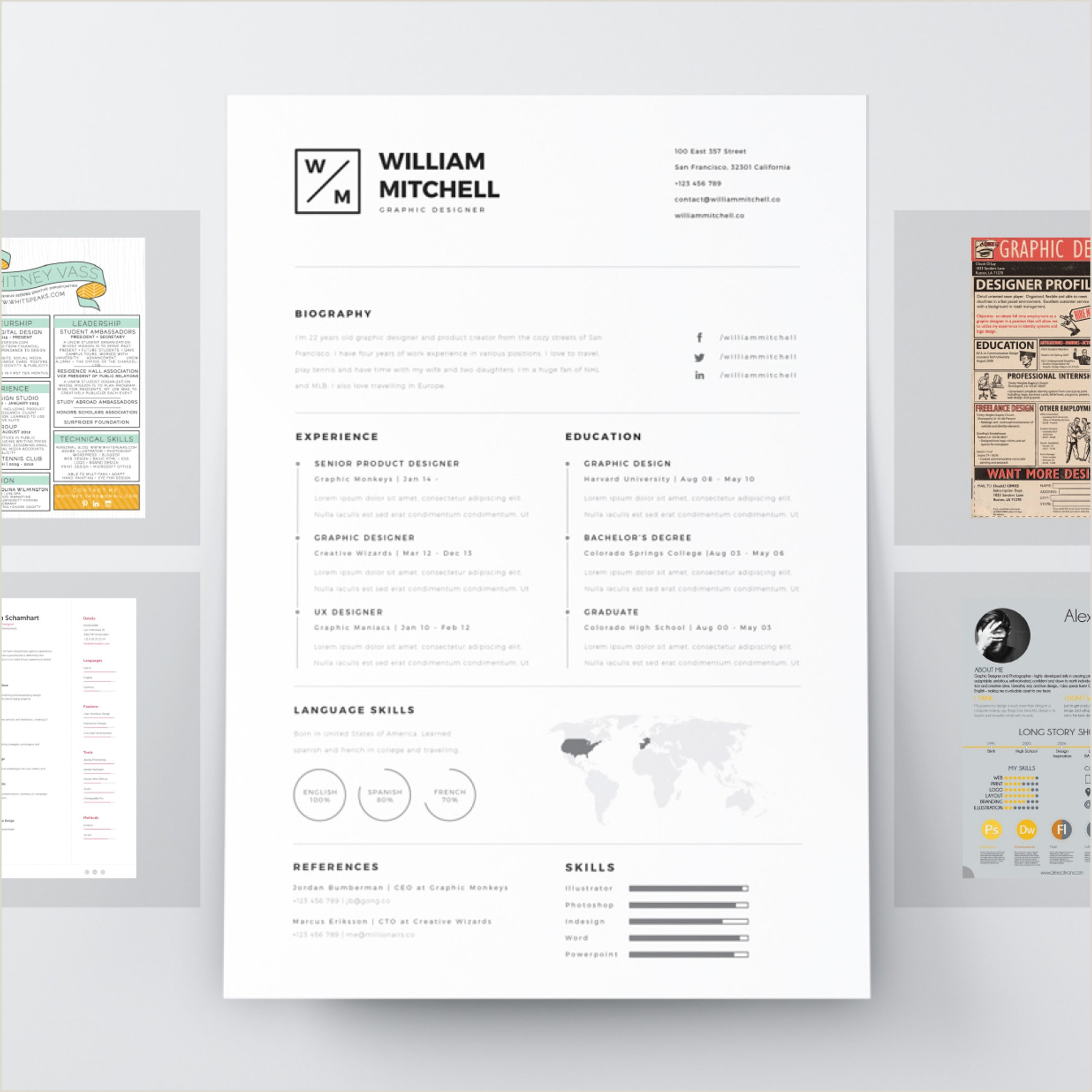 7 resume design principles that will you hired 99designs