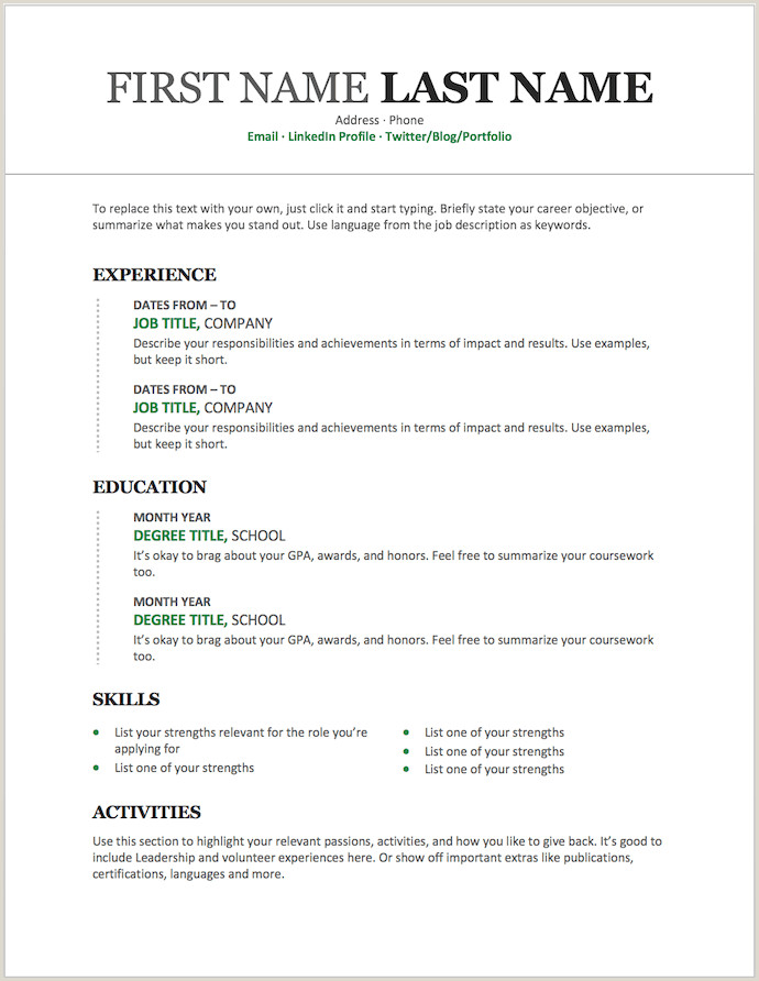 Best Resume format for Job Pdf Download 25 Free Resume Templates for Microsoft Word & How to Make