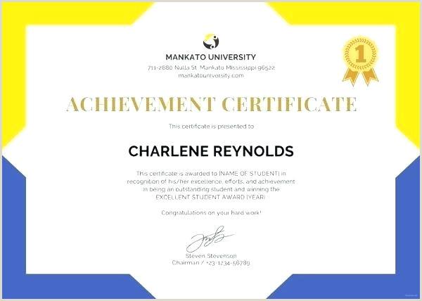Elementary School Certificate Templates Free Template
