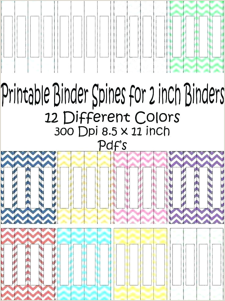 binder spine label template