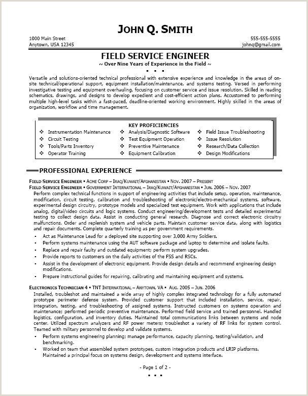 Best Service Technician Resume Sample
