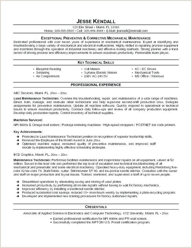 mechanical technician resume sample – airexpresscarrier