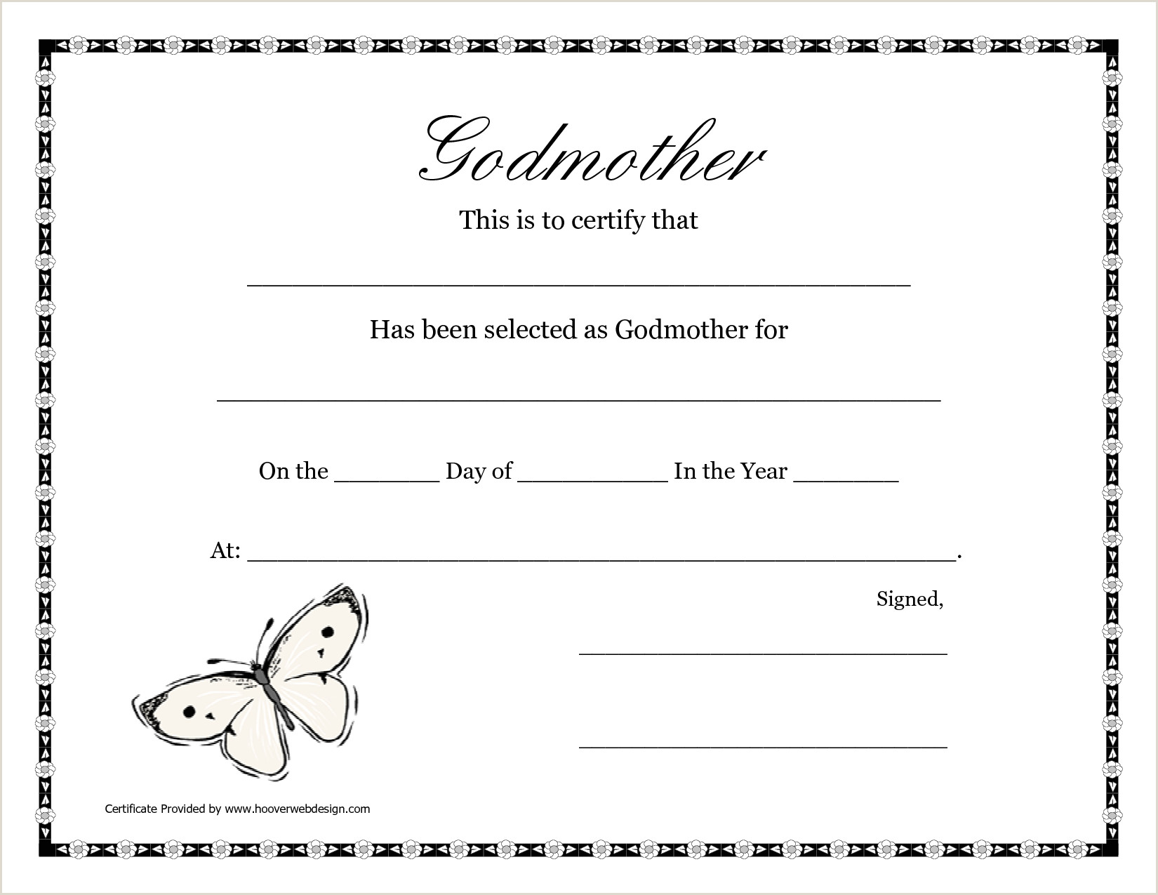 Birthday Wish List Template Printable Free Printable Godparent Certificates