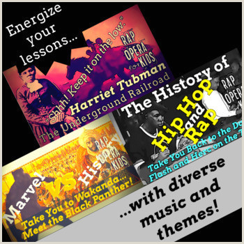 Black History Reading Passages and Context Clues Worksheets Using Rap Songs 1