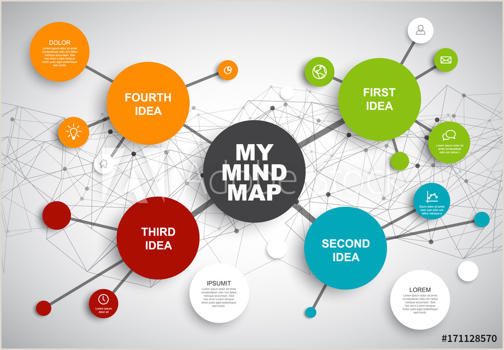 Blank Concept Map Maker Fotografie Obraz Vector Abstract Mind Map Infographic