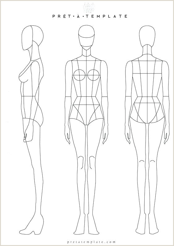 Blank Female Body Template Free Printable Fashion Templates – Litigationedge