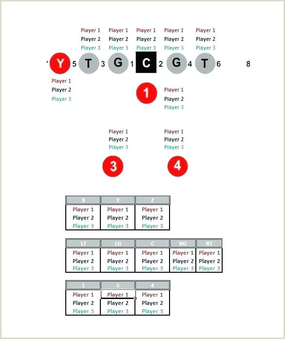 Football Playbook Template Pdf Football Formation Sheet