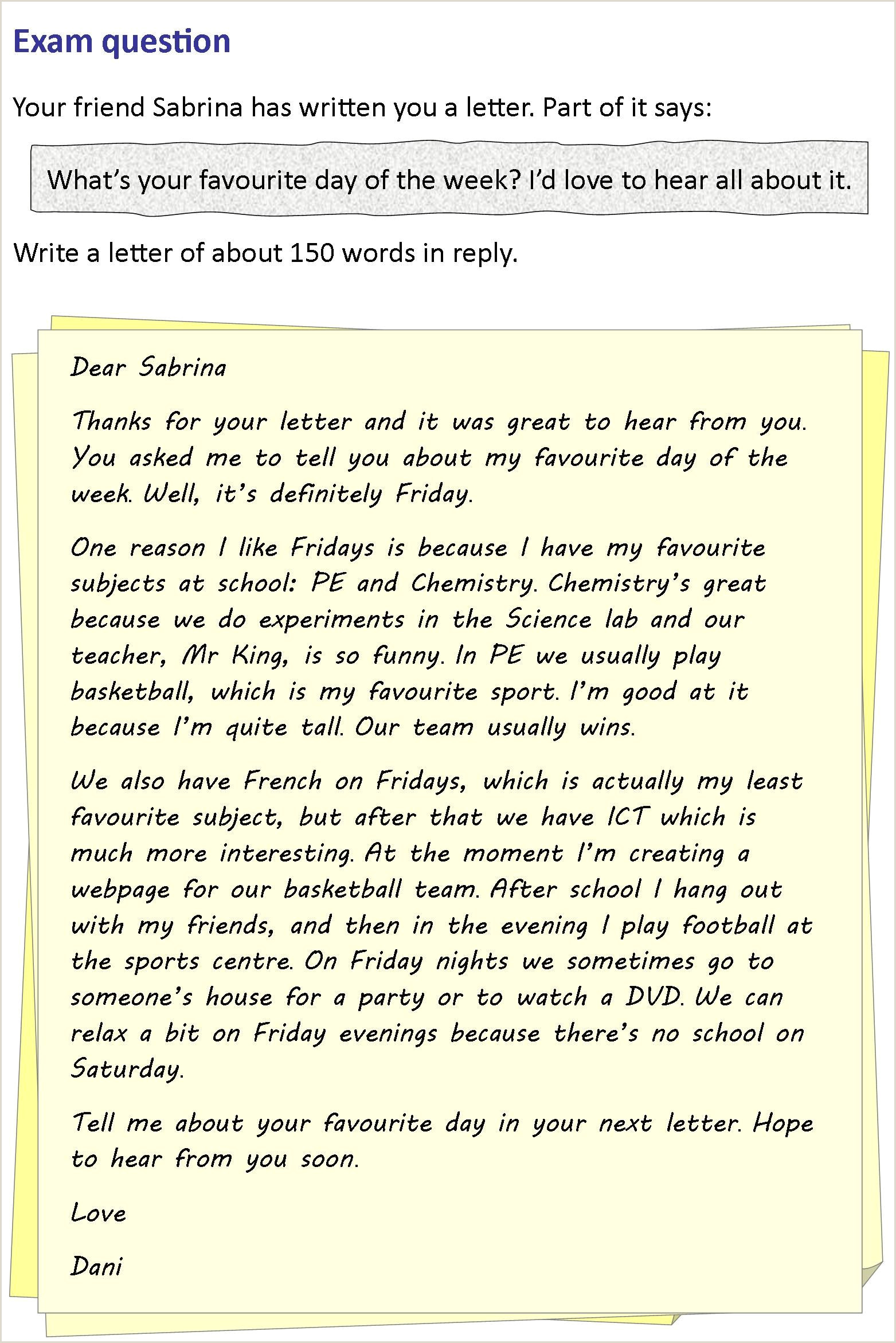 Blank Friendly Letter Template A Letter to A Friend Teaching