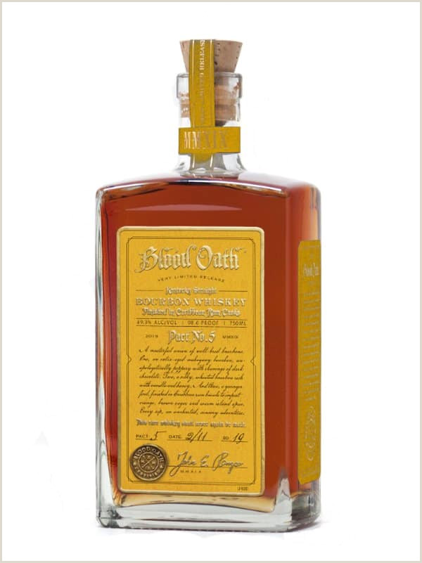 Blank Jack Daniels Label Blood Oath Pact No 5 Bourbon Whiskey