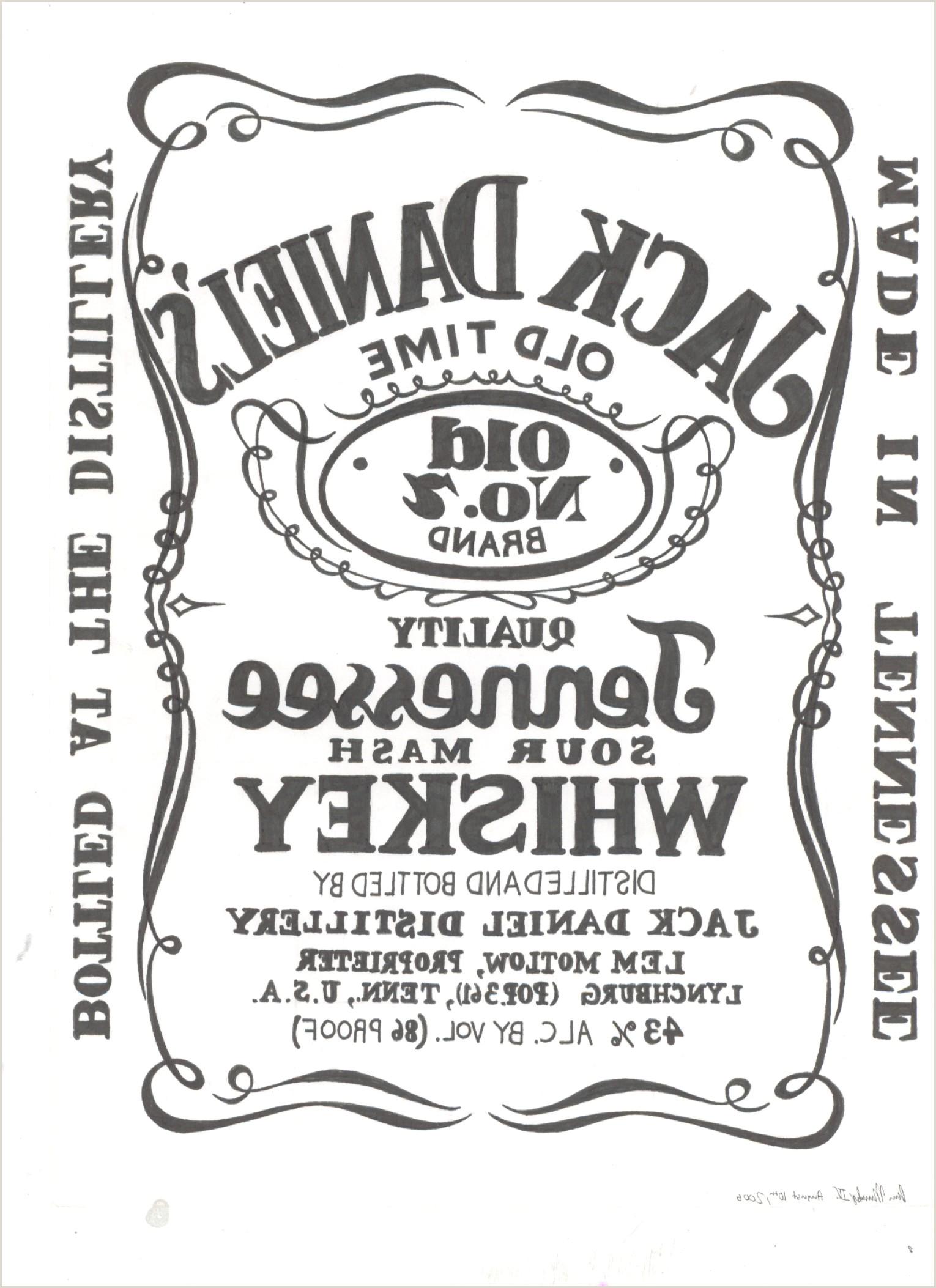 Jack Daniels Label Template Vector