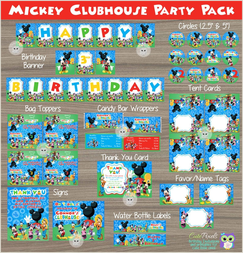 Blank Mickey Mouse Clubhouse Invitations Mickey Mouse Birthday Banner Mickey Mouse Clubhouse Banner Mickey Mouse Birthday Mickey Mouse Party Mickey Mouse Sign Bunting Banner