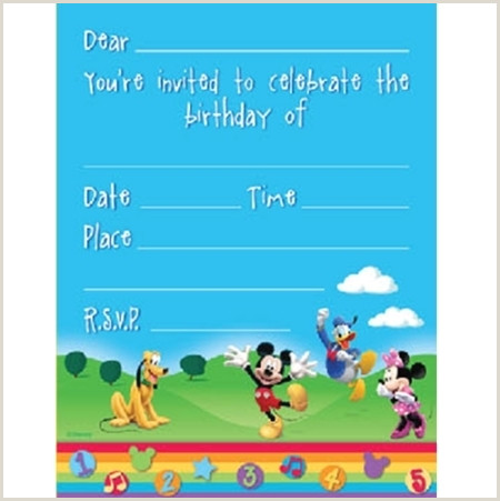 Blank Mickey Mouse Clubhouse Invitations Mickey Mouse Party Supplies Archives Important Items