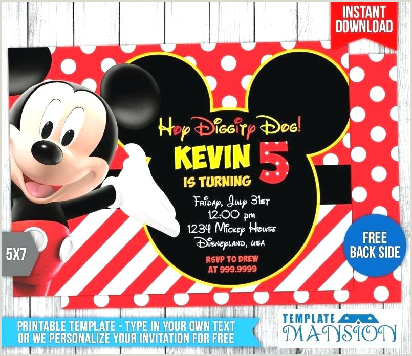 Blank Mickey Mouse Clubhouse Invitations Printable Mickey Mouse Birthday Invitations Mickey Mouse