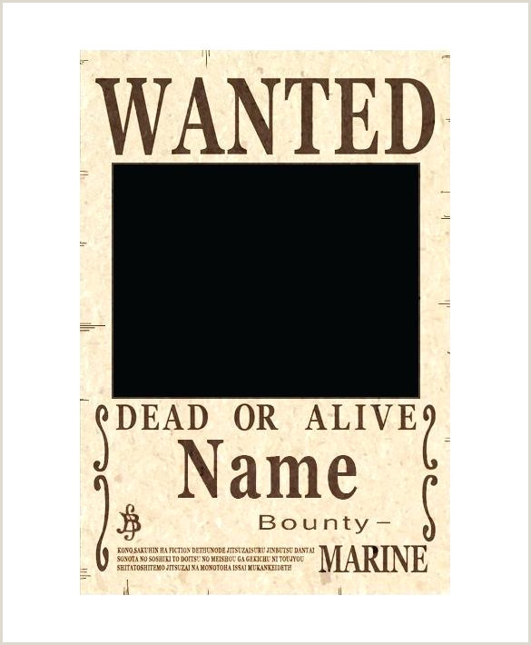 Blank e Piece Wanted Poster Example Download Template