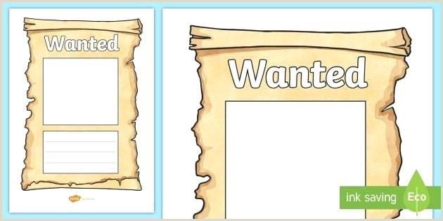 Most Wanted Poster Template Sign Free Blank Example Ks2