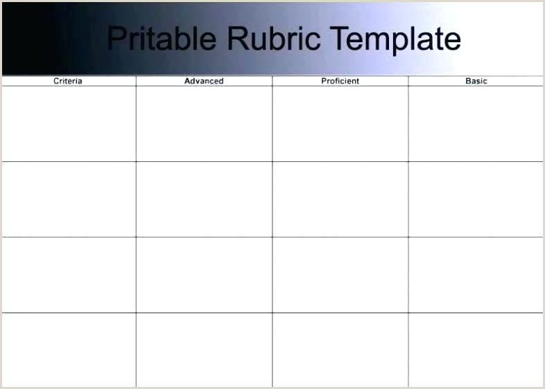 Performance Rubric Template Grading Assessment Examples