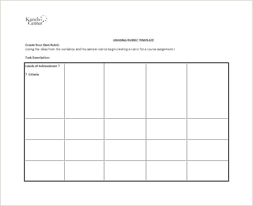 rubric template doc