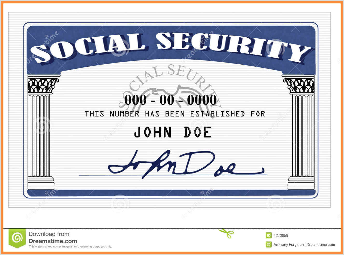Blank social Security Card Template with Seal 20 Blank social Security Card Template