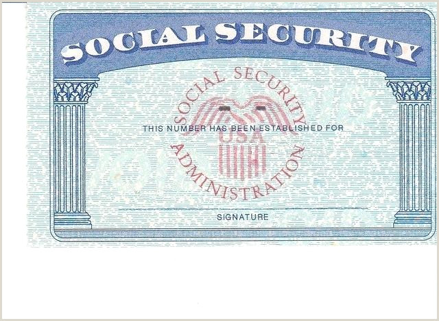 Blank social Security Card Template with Seal Blank social Security Card Template Blank social Security