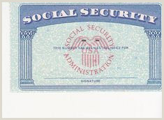 Blank social Security Card Template with Seal Drivers Permit