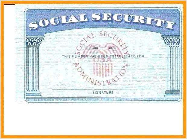 Blank social Security Card Template with Seal social Security Template – Chanceinc