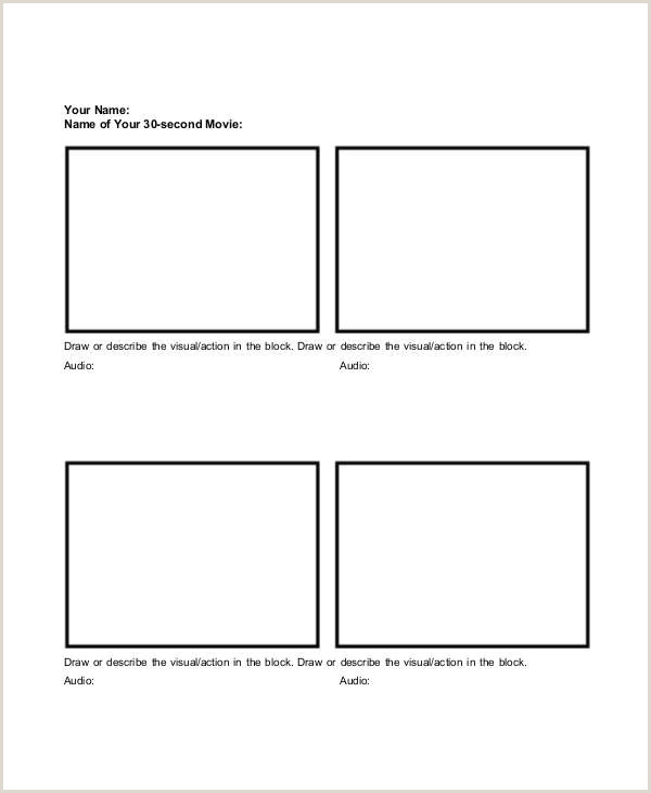 Blank Storyboard Template Pdf Basic Storyboard Template Example Storyboard Template