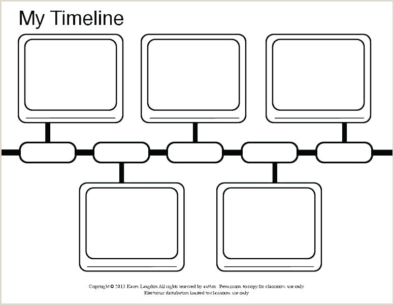 Blank Timeline Template For Kids Free Printable Children