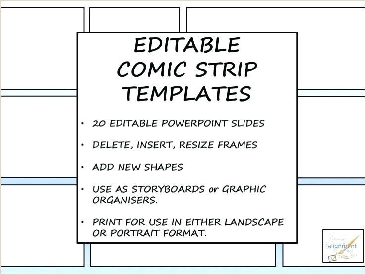 Cover Image Storyboard Template For ic Strips Strip