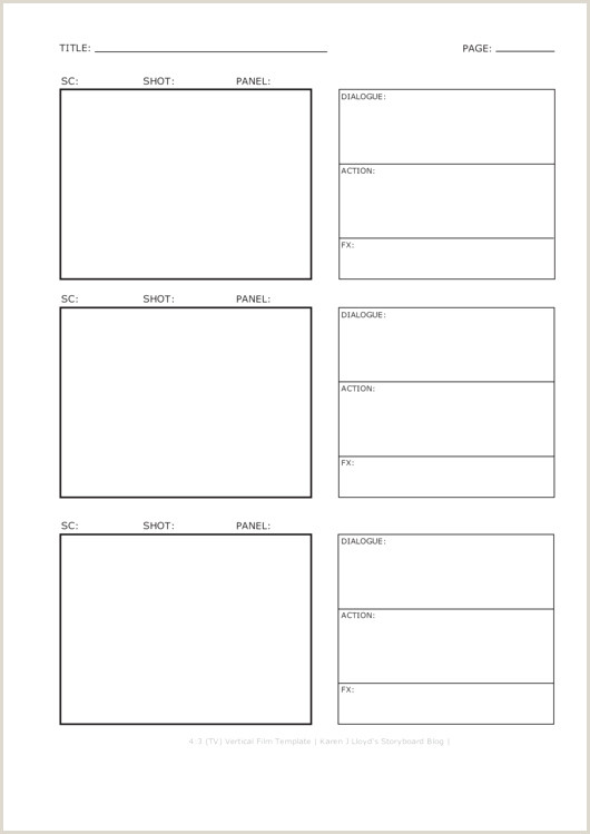 Storyboard Template Pdf Fresh Storyboard Templates