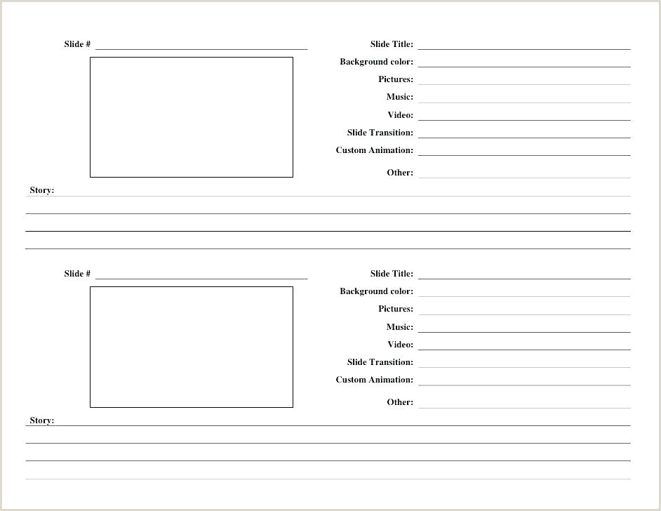 Blank Storyboard Template Pdf Video Storyboard Template