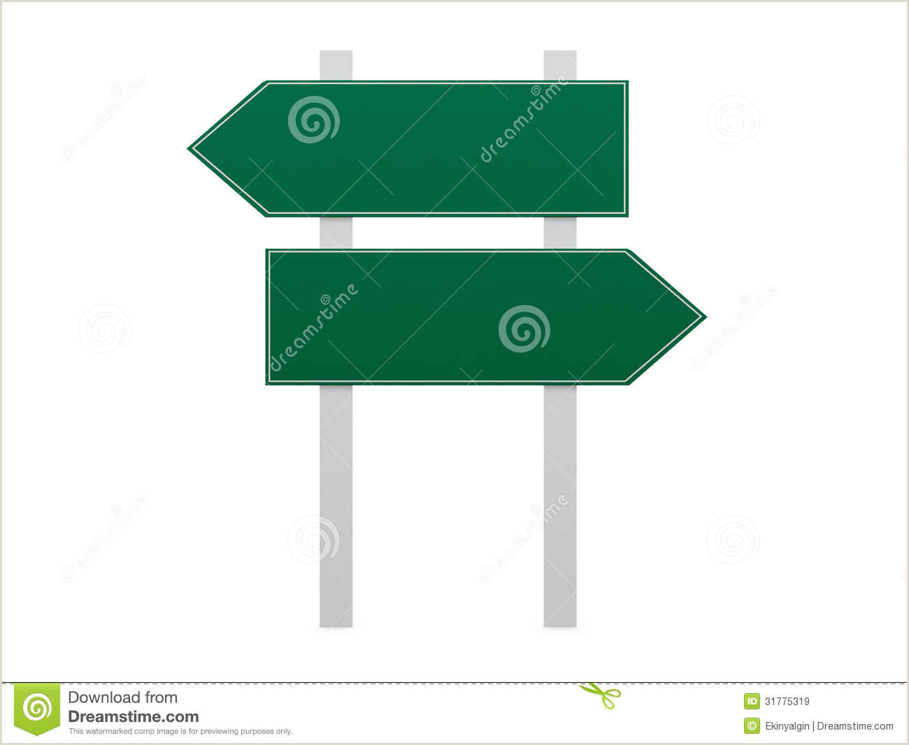 Blank Street Sign Template Blank Road Signs Stock Illustration Illustration Of