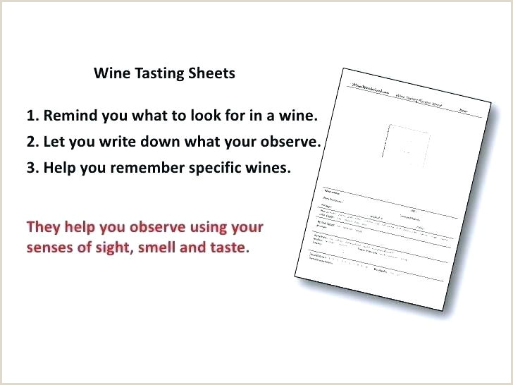 wine tasting notes template free