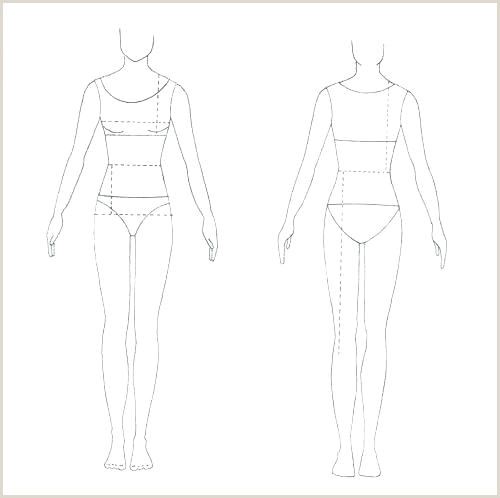 Body Template for Drawing Blank Model Sketch Template – Golfpachuca