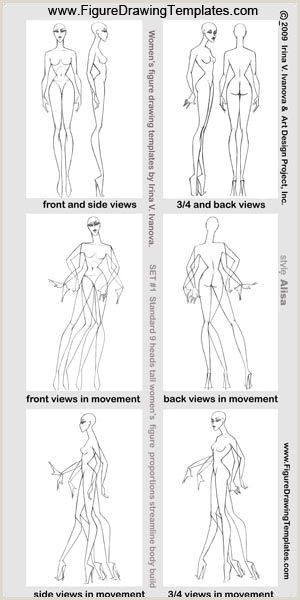 Body Template for Drawing How to Draw Female Figure with Figure Drawing Templates
