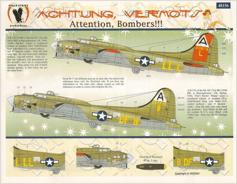 Boeing organizational Chart Eagle Strike 48 156 1 48 échelle Boeing B 17 Flying fortress Achtung Viermots attention Bombers Stickers Avion Mod¨le Avec Nose Art