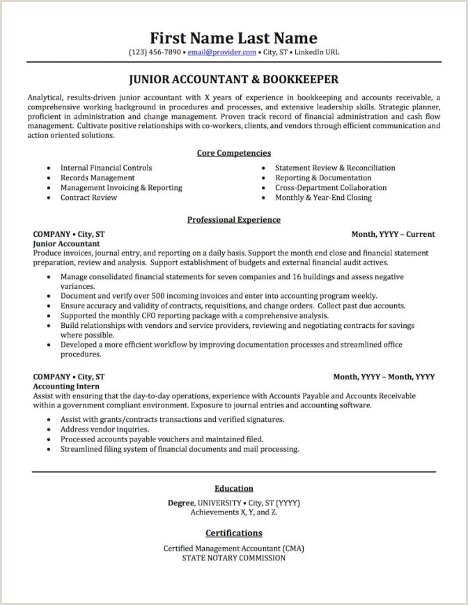 Free Senior Accounting Resume Template Sample Ms Word Ex