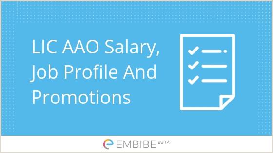 LIC AAO Salary Detailed Salary Structure Allowances Job