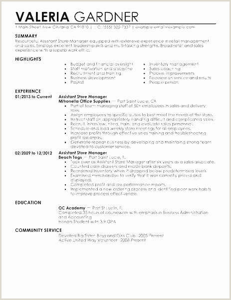 Sample Retail Resume Best 27 Retail Management Resume Simple