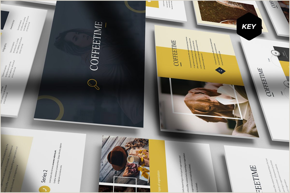 Brand Guidelines Book Template Coffee Time Keynote Template Keynote Templates