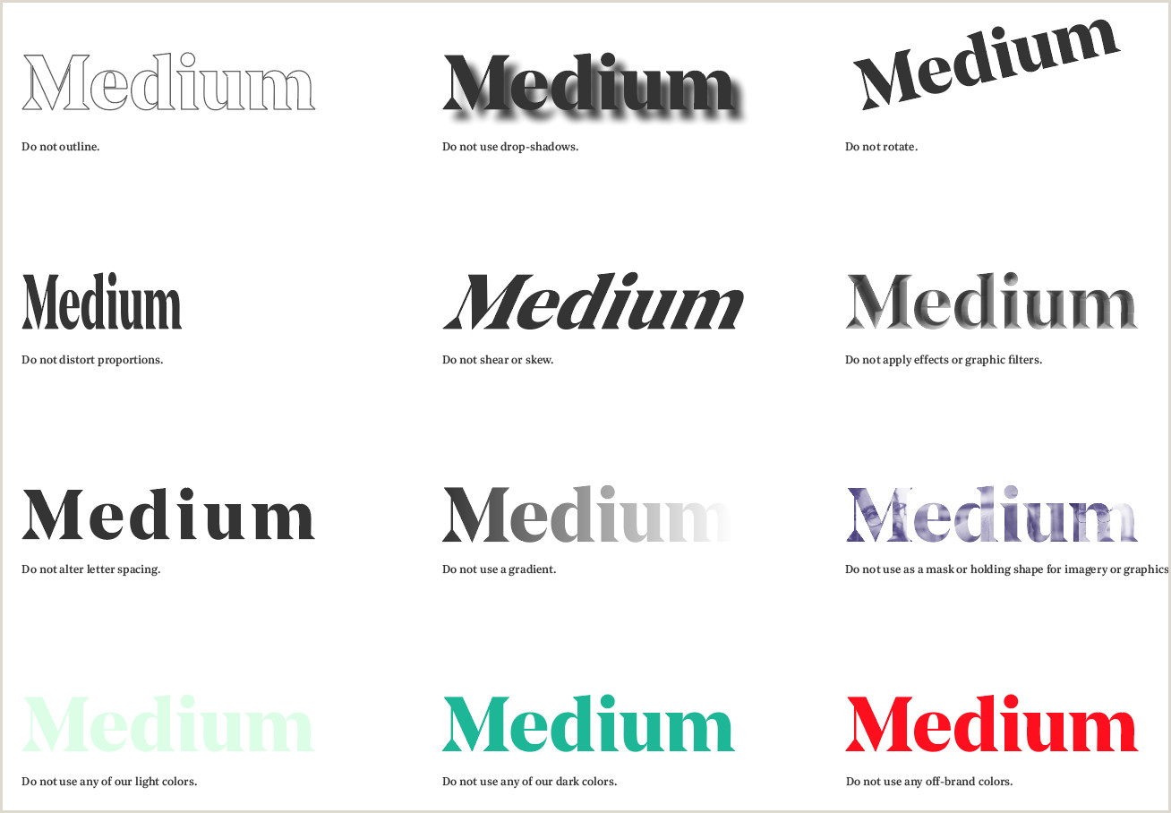 Brand Guidelines Book Template Medium Branding Guidelines Designing Medium
