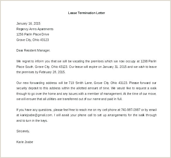 Breaking Lease Agreement Template Notice Letter to Landlord – Arodz