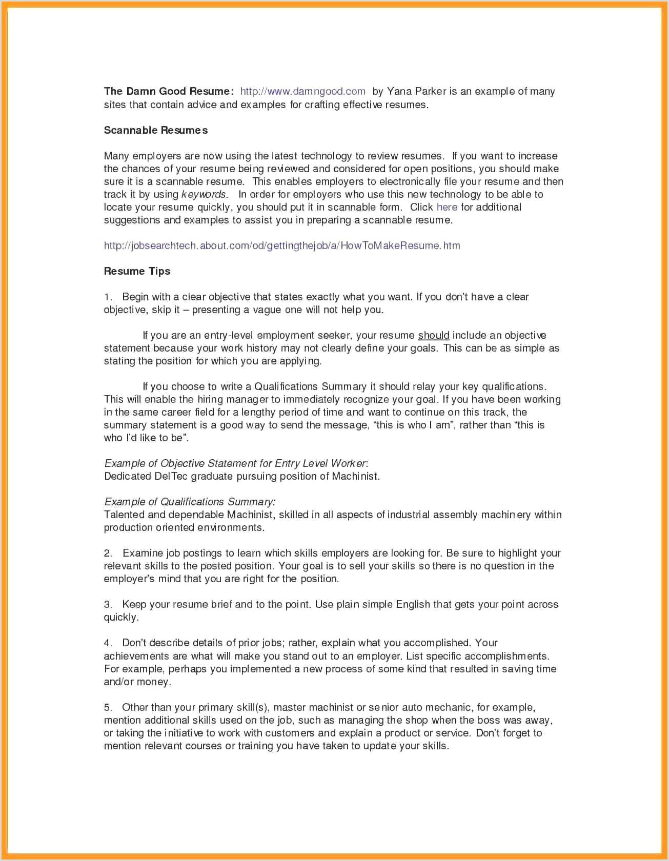 British Standard Cv format 13 Cv Profile Examples