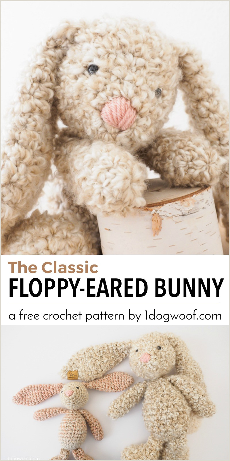 Bunny Paw Print Template Classic Stuffed Bunny Crochet Pattern for Easter E Dog Woof