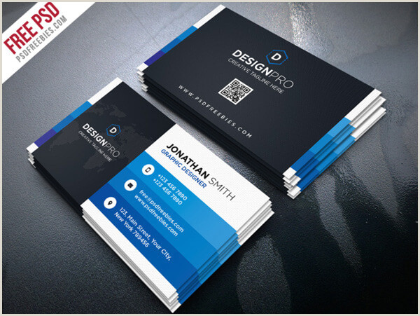 51 Best Free PSD Business Card Templates To Download Tech