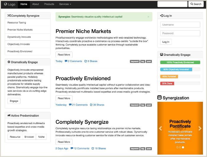 Business Directory Website Template Portal Website Templates