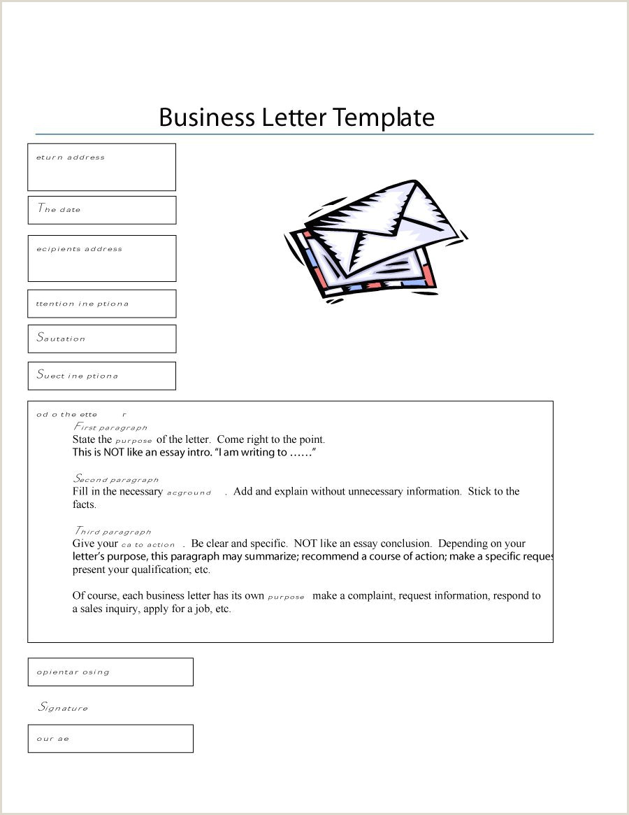 Formal Business Letter Example Format Sample plaint